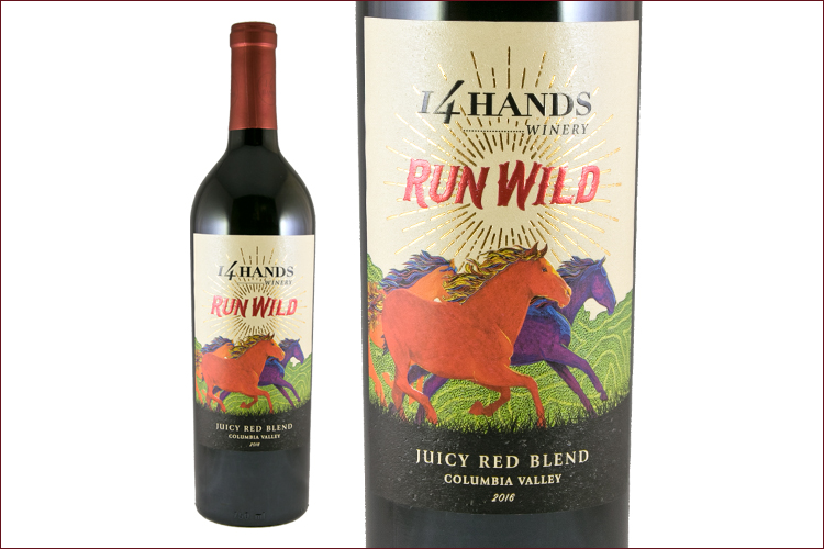 14 Hands 2016 Run Wild Red Blend