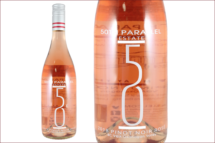 50th Parallel Estate Winery 2018 Pinot Noir Rose