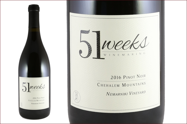 51Weeks Winemaking 2016 Nemarniki Vineyard Pinot Noir
