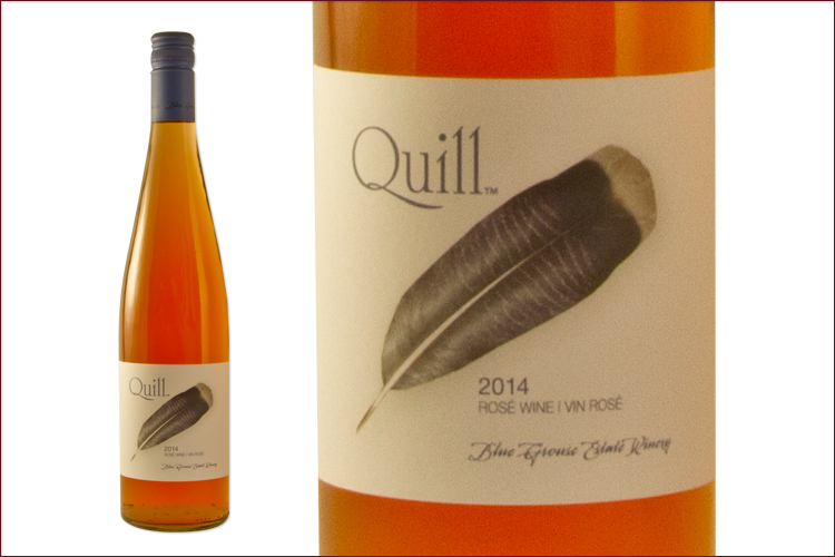 Blue Grouse Estate Winery 2014 Quill Rose bottle