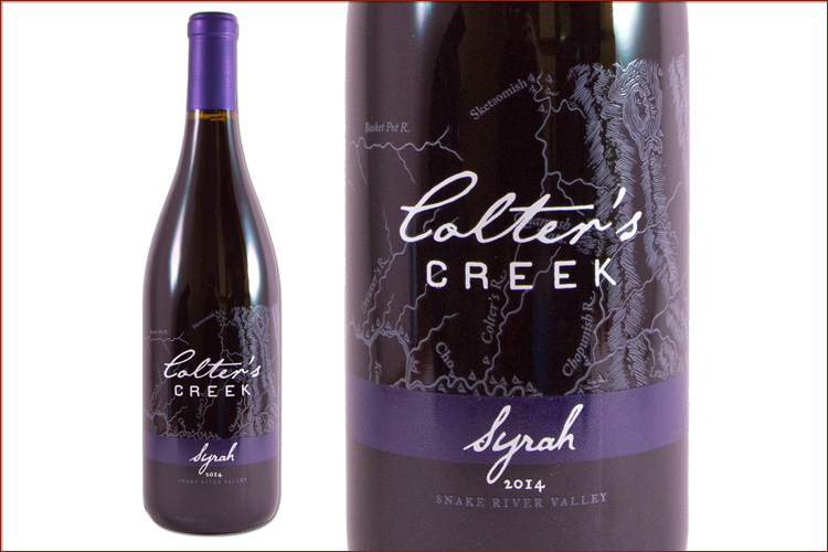 Colter�s Creek Winery 2014 Syrah wine bottle