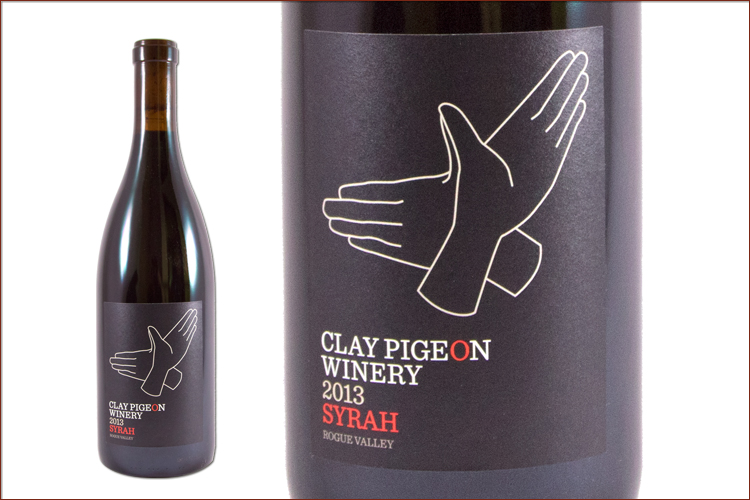 Clay Pigeon Winery 2013 Rogue Valley Syrah wine bottle