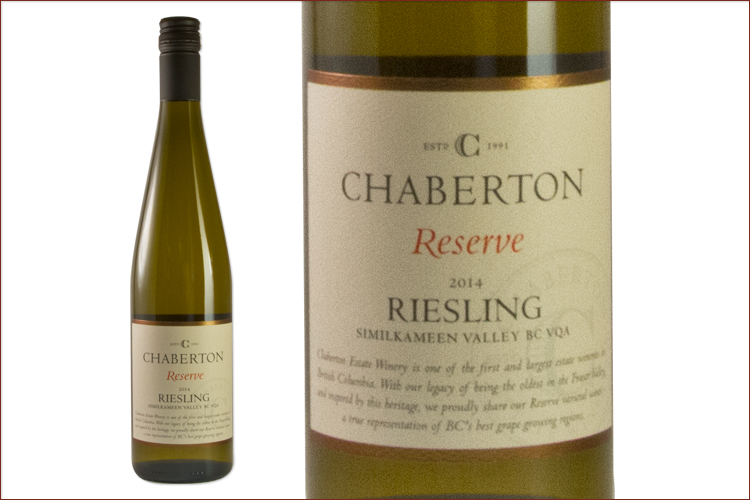 Chaberton Estate Winery 2014 Reserve Riesling wine bottle