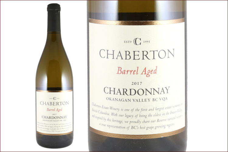 Chaberton Estate Winery 2017 Barrel Aged Chardonnay