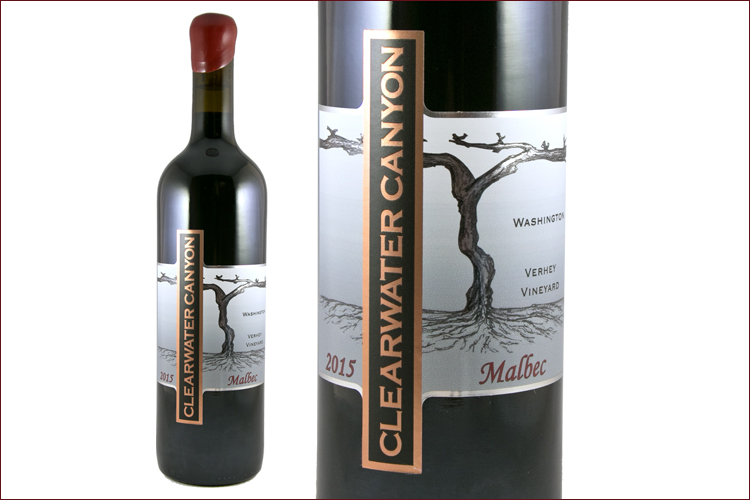 Clearwater Canyon Cellars 2015 Malbec Verhey Vineyard