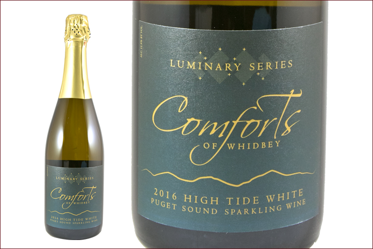 Comforts of Whidbey 2016 Sparkling High Tide White wine bottle