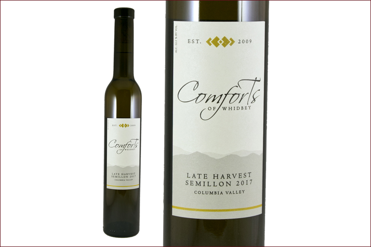 Comforts of Whidbey 2017 Late Harvest Semillon wine bottle