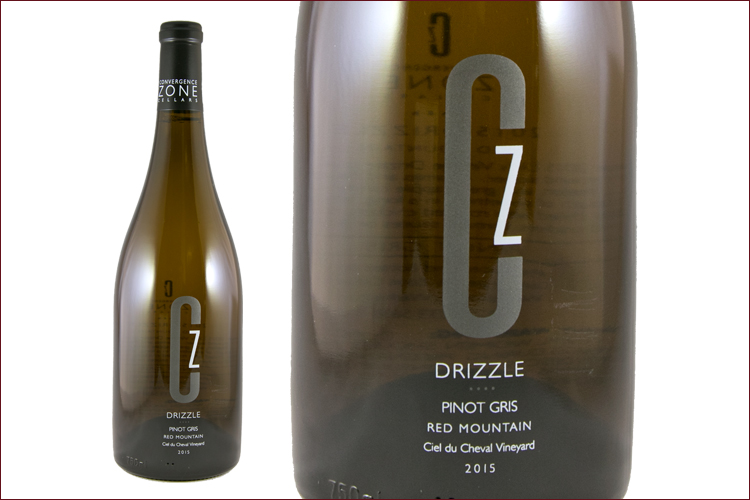 Convergence Zone Cellars 2015 Drizzle Pinot Gris wine bottle