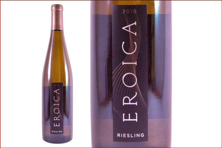 Chateau Ste. Michelle 2015 Dr. Loosen Eroica Riesling wine bottle