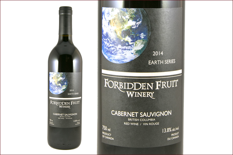 Forbidden Fruit Winery 2014 Earth Series Cabernet Sauvignon wine bottle