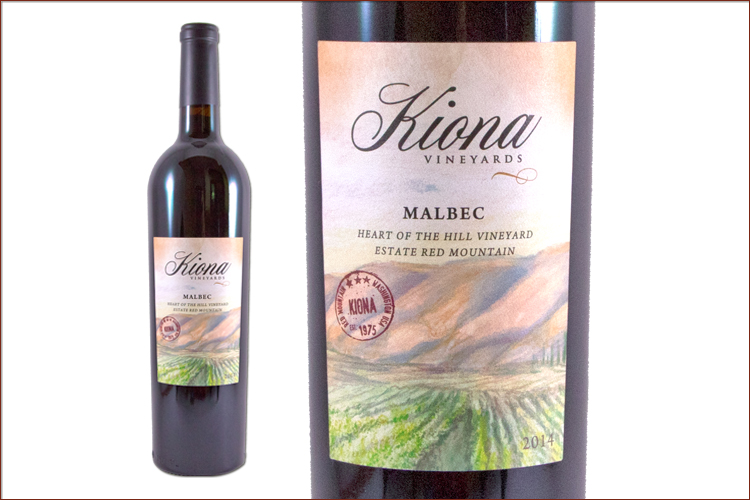 Kiona Vineyards & Winery 2014 Estate Red Mountain Malbec