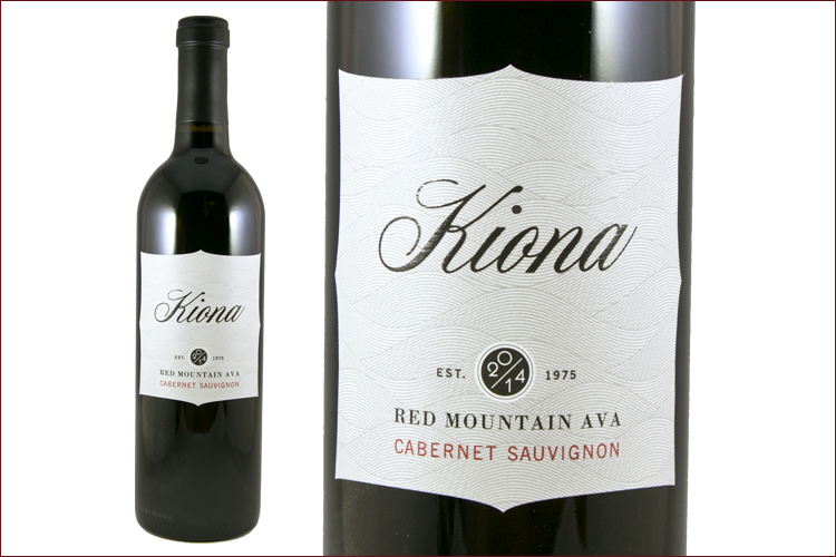 Kiona Vineyards and Winery 2014 Red Mountain Cabernet Sauvignon wine bottle