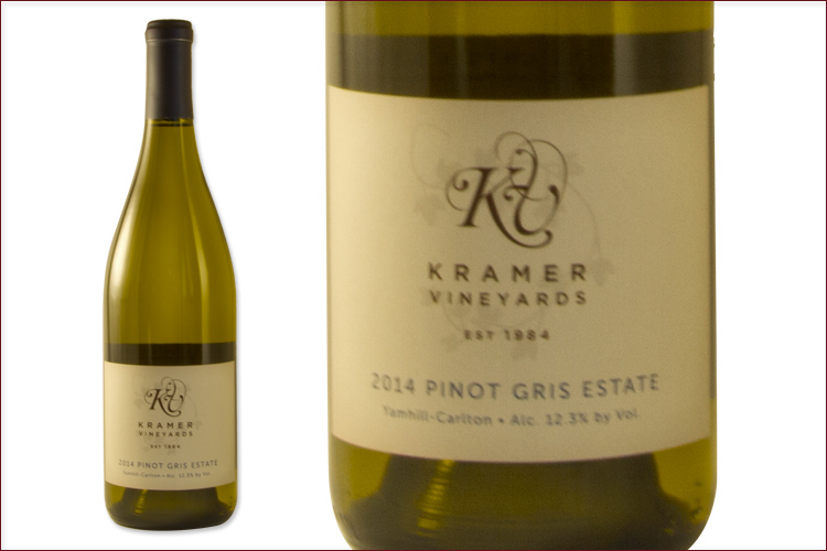Kramer Vineyards 2014 Estate Pinot Gris