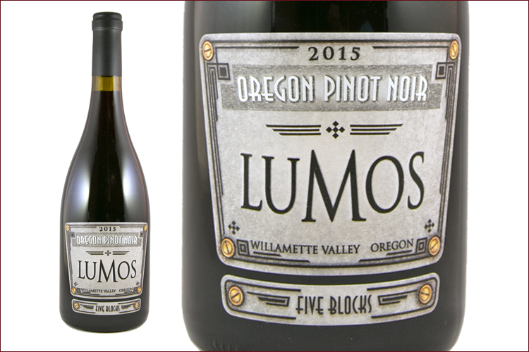 Lumos Wine Co. 2015 Five Blocks Pinot Noir