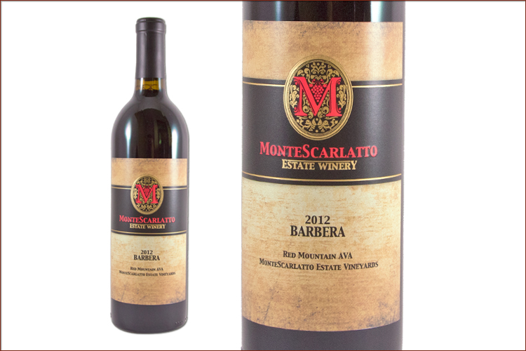 MonteScarlatto Estate Winery 2012 Barbera