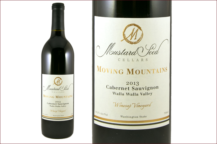 Mustard Seed Cellars 2013 Moving Mountains Cabernet Sauvignon wine bottle