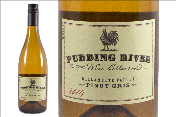 Pudding River Wine Cellars 2014 Pinot Gris wine bottle
