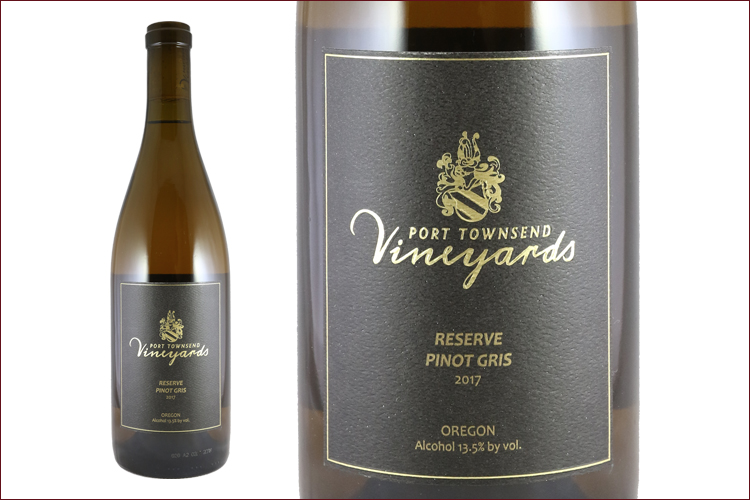 Port Townsend Vineyards 2017 Reserve Pinot Gris bottle