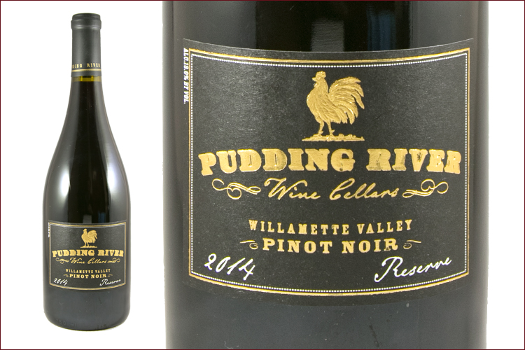 Pudding River Wine Cellars 2014 Reserve Pinot Noir wine bottle
