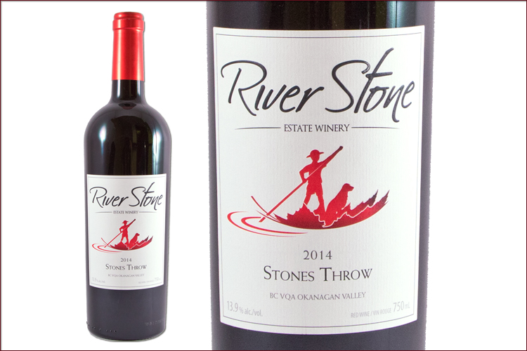 River Stone Estate Winery 2014 Stones Throw wine bottle