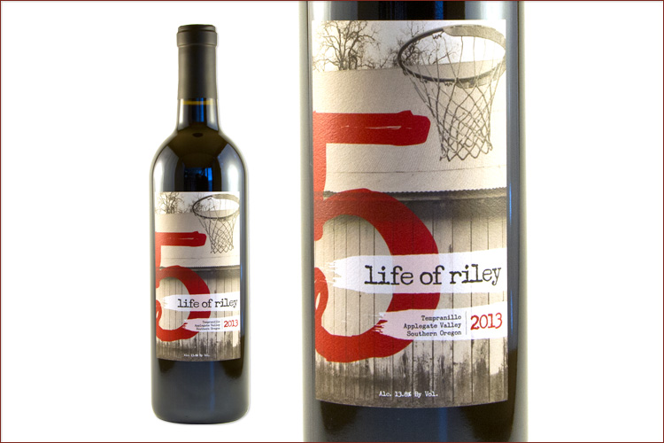 Red Lily Vineyards 2013 Life of Riley Tempranillo wine bottle