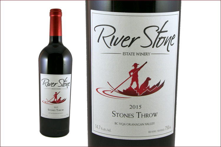 River Stone Estate Winery 2015 Stones Throw wine bottle