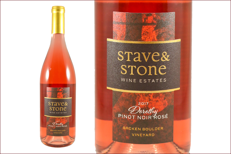 Stave & Stone Winery 2017 Dorothy Ros� wine bottle