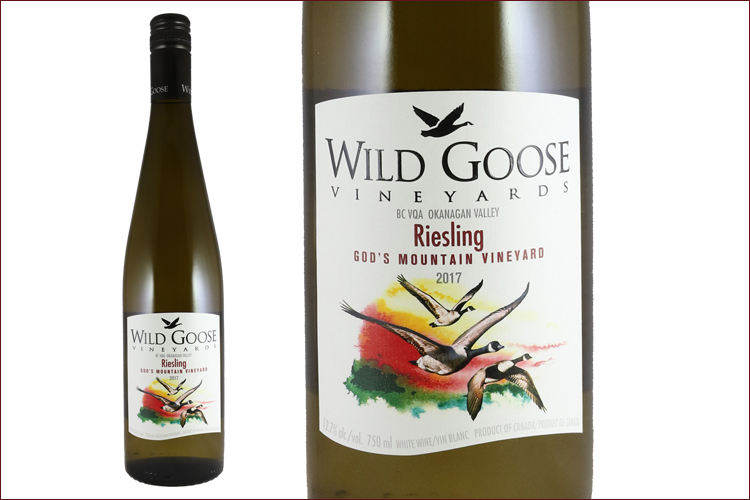 Wild Goose Winery 2017 God�s Mountain Riesling bottle