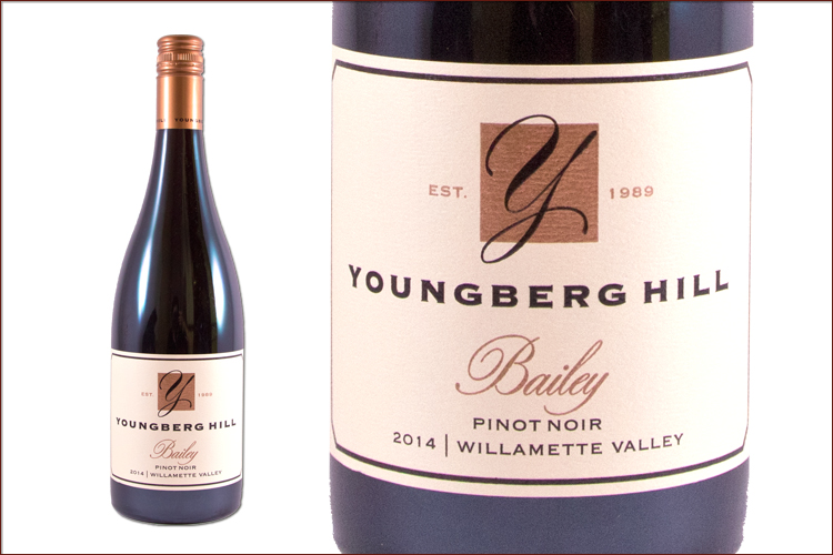 Youngberg Hill 2014 Bailey Pinot Noir wine bottle