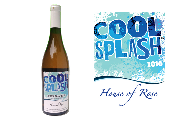 House of Rose Winery 2016 Cool Splash Pinot Gris wine bottle